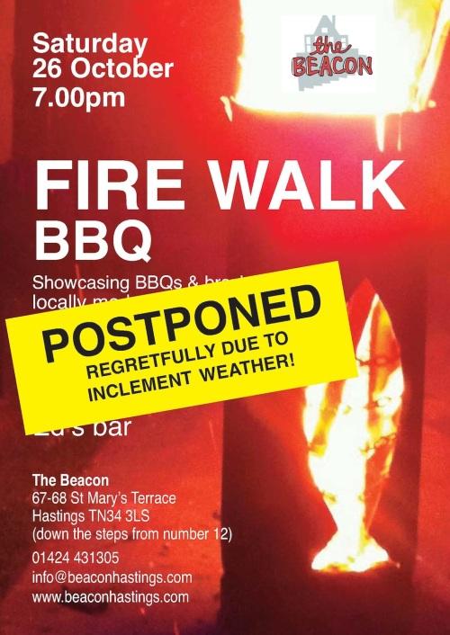 fire walk postponed